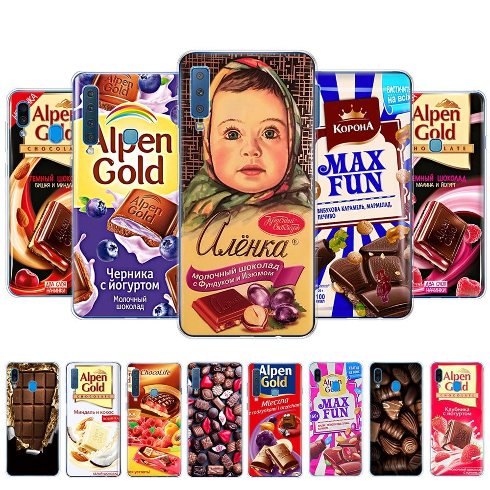 Case For Samsung A50 Case For Samsung Galaxy A50 A10 A30 A40 A70 2019 A9 A7 2018 A30s A10s A20s A50s A40s Alenka Bar Chocolate