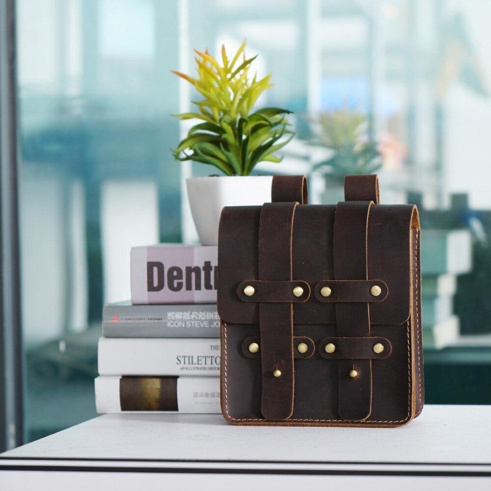 Image 5 - Moterm Genuine Leather Fanny Pack Waist Bag Belt Phone Pouch Bag  for Men Vintage Travel Waist Pack Male Small Waist BagWaist Packs   -