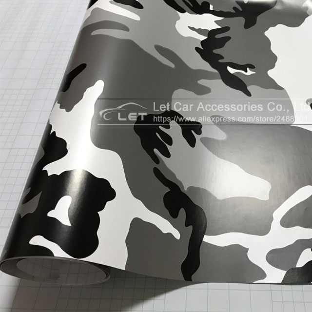Black and white camo green camo camouflage desert army vinyl film sticker diy motorcycle automobiles car styling accessories in car stickers from