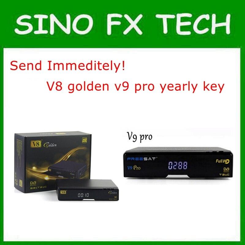 Envoyer immédiatement Singapour câble boîte V8 D'or abonnement annuel V9 pro renouvellement annuel v9 super clé de licence