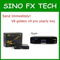send immediately Singapore cable box V8 Golden annual subscription V9 pro yearly renewal v9 super license key