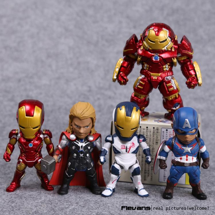 Avengers Age of Ultron Kids Nations SF05 Iron Man Thor Hulkbuster Captain America PVC Action Figures Toys without box HRFG457  kids nations avengers age of ultron hulk buster iron man thor captain america q version action figures 5pcs set kb0383