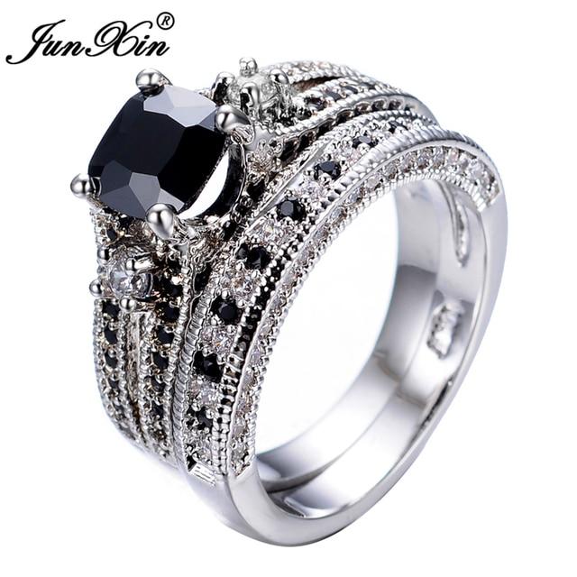 Buy JUNXIN Mens Gorgeous Black Crystal