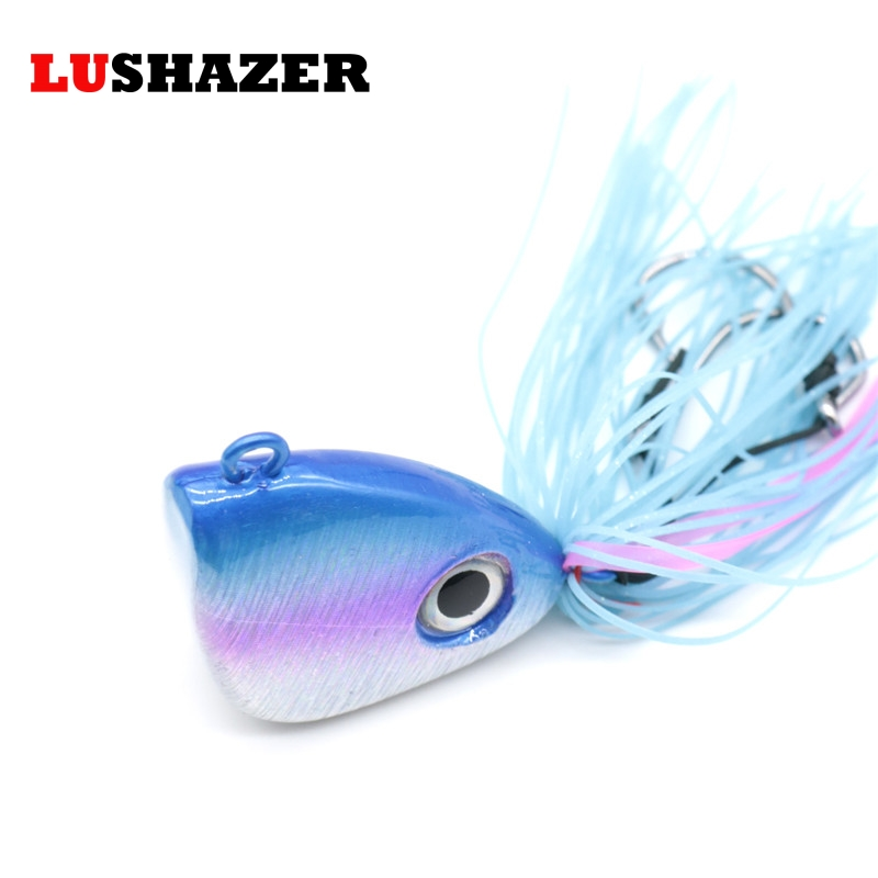 LUSHAZER Fishing lead head hook spoon metal lures 150g jig heads for fishing isca artificial fish tackles China products lucky john croco spoon big game mission 24гр 004