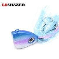 LUSHAZER metal de la cuchara señuelos de Pesca gancho de plomo cabeza 150g jig cabeza de pescado aparejos de pesca isca artificial productos de China