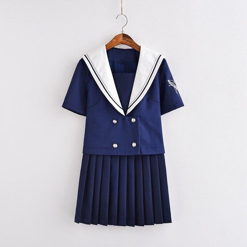 Nouveauté Nagoya col japonais uniformes scolaires bleu été marin Cosplay filles