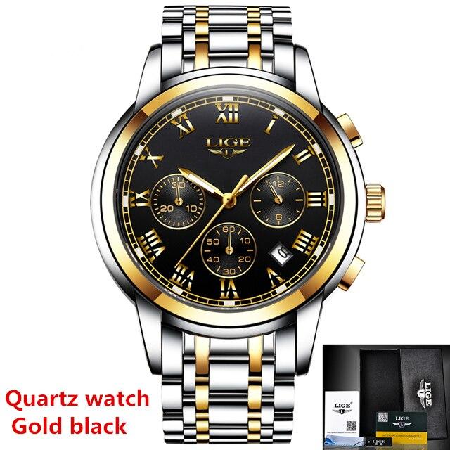 Gold black Quartz