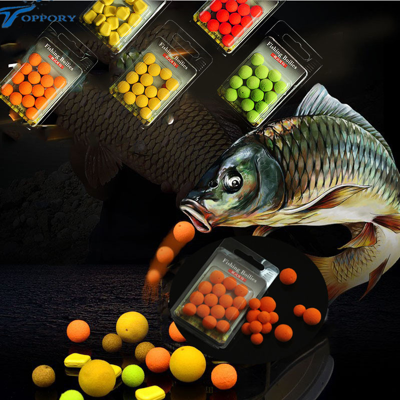 Toppory 15pcs/box pop up boilies 12mm smelly floating ball bait for carp  fishing grass carp boilies bait Lake river fishing bait