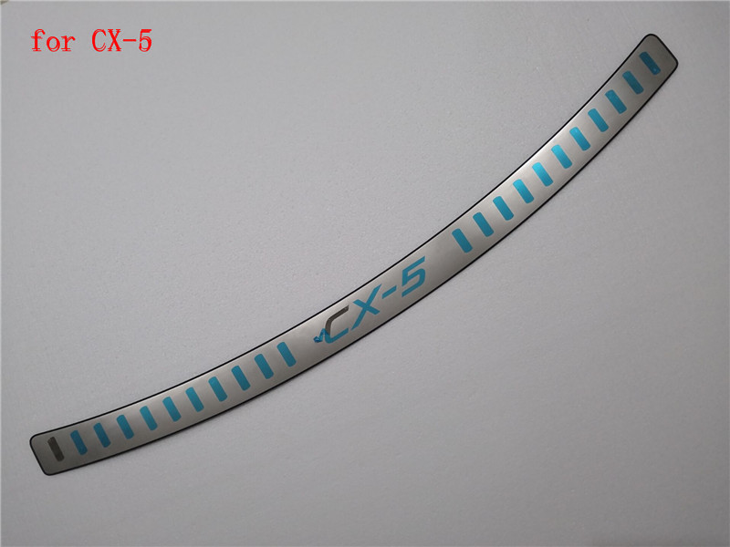 Stainless Steel car Rear Bumper Protector Sill Trunk Tread Plate Trim Car styling For <font><b>Mazda</b></font> CX-5 <font><b>CX5</b></font> 2012 2013 2014 2015 <font><b>2016</b></font> image