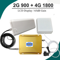 GSM 900 And 1800mhz Mobile Phone Signal Booster Repeater With LCD Display Dual Band Cell Amplifier