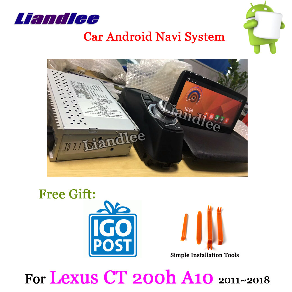 Android GPS navigation box for Lexus CT200h CT 2014-2019 etc video  interface with Carplay android auto control waze by Lsailt