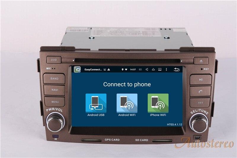 6.6.2 pouces Android 7.1 Voiture GPS Navigation Lecteur DVD Autoradio Pour Hyundai Sonata NF 2008-2010 Auto Radio stéréo