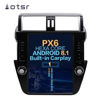 "Aotsr Tesla 12.1""  Vertical screen Android 8.1 Car DVD multimedia player carplay GPS Navigation For Toyota Prado 2014-2017"