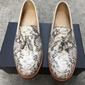 Sipriks Luxury Mens Goodyear Welted Loafers Shoes Italian Handmade Python Loafers With Tassels Designer Snake Skin Loafers 2017