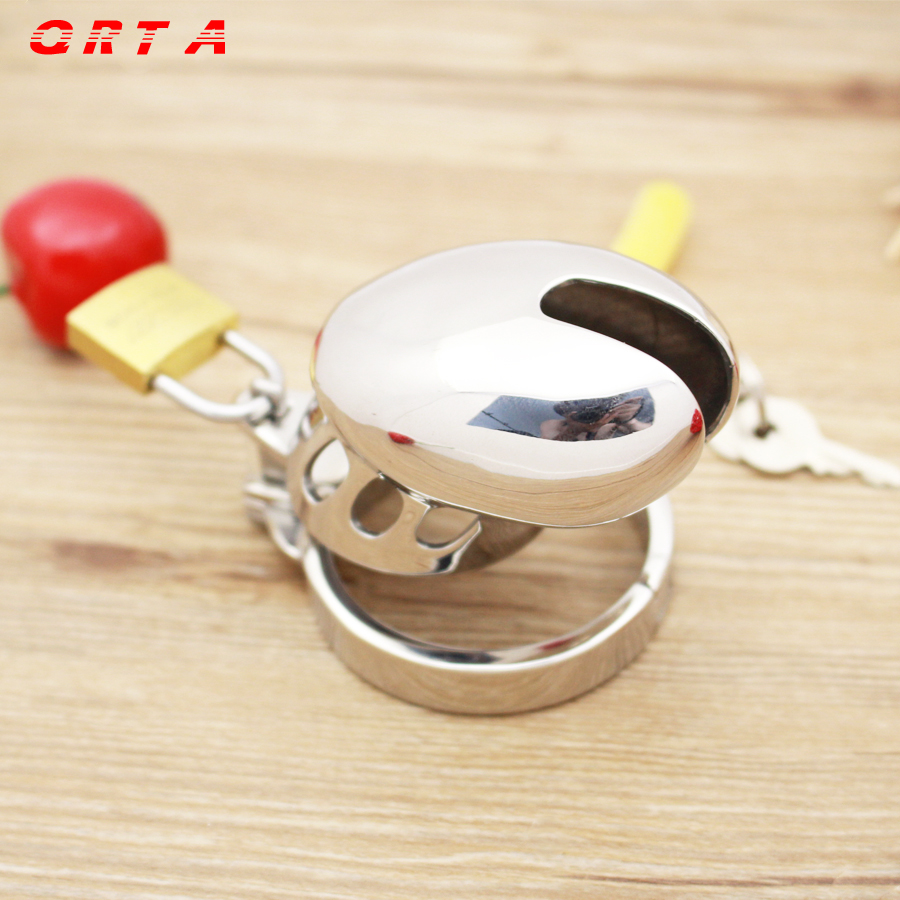Buy 2015 Male Chastity Sexy Slave Male Metal Chastity Device Large Cock Cages Men's Virginity Lock Penis Ring Adult Games Sex Toys