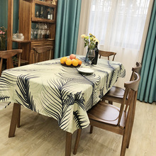 Tablecloth Tropical plants colorfull leaves house restaurant wedding home decoration Picnic mat on the table round for gift