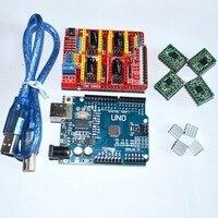 Cnc Shield V3 Engraving Machine 3D Printer 4pcs A4988 Driver Expansion Board For Arduino UNO R3