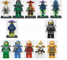 12pcs/lot Decool Figures Cole Kai Jay Lloyd Zane Chen Mini Blocks Set Ninja go Figure Toy Compatible legoINGlys Minifig