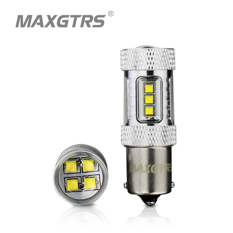 2x High Power S25 1156 BA15S P21W 30W 50W 80W CREE Chip XBD LED Car Reverse Bulbs Backup Reverse Lamp Light White/Red/Yellow