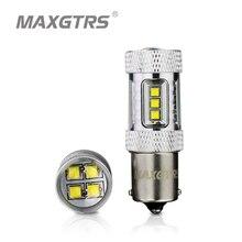 2x High Power S25 1156 BA15S P21W 30W 50W 80W Chip CREE XBD LED samochodowe żarówki świateł cofania Backup światło cofania światło biały/czerwony/żółty