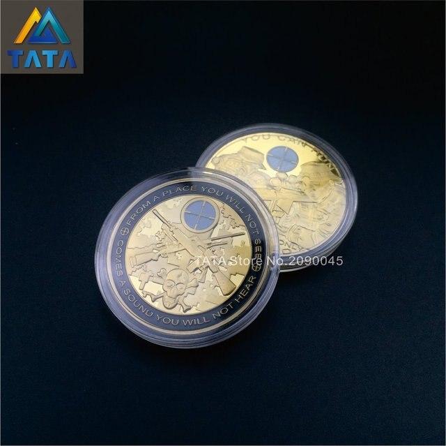 Neue Ankunft 10 Teilelos Usa Sniper Münzen Armee Vergoldung