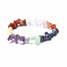2018 Hot New Bracelets Adjustable Bangles Natural stone Bracelet Handmade Rainbow 7 Lucky For Couple Women Jewelry Gift