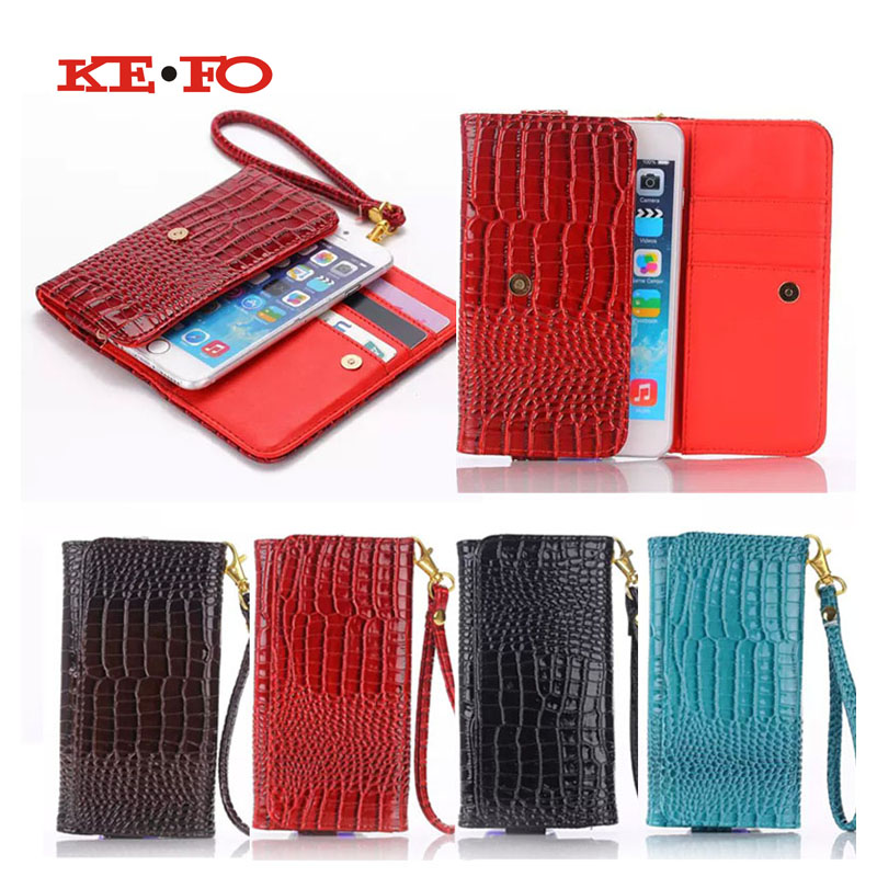 KEFO Leather Universal Wallet crocodile Leather Pouch Case cover for Cubot S550 Cubot Note S Cubot H1 Cubot X15