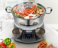Household Steam Hot Pot Microcomputer Control Electric Steam Pot 1400W Multifunctional Cooking Machine AP-169
