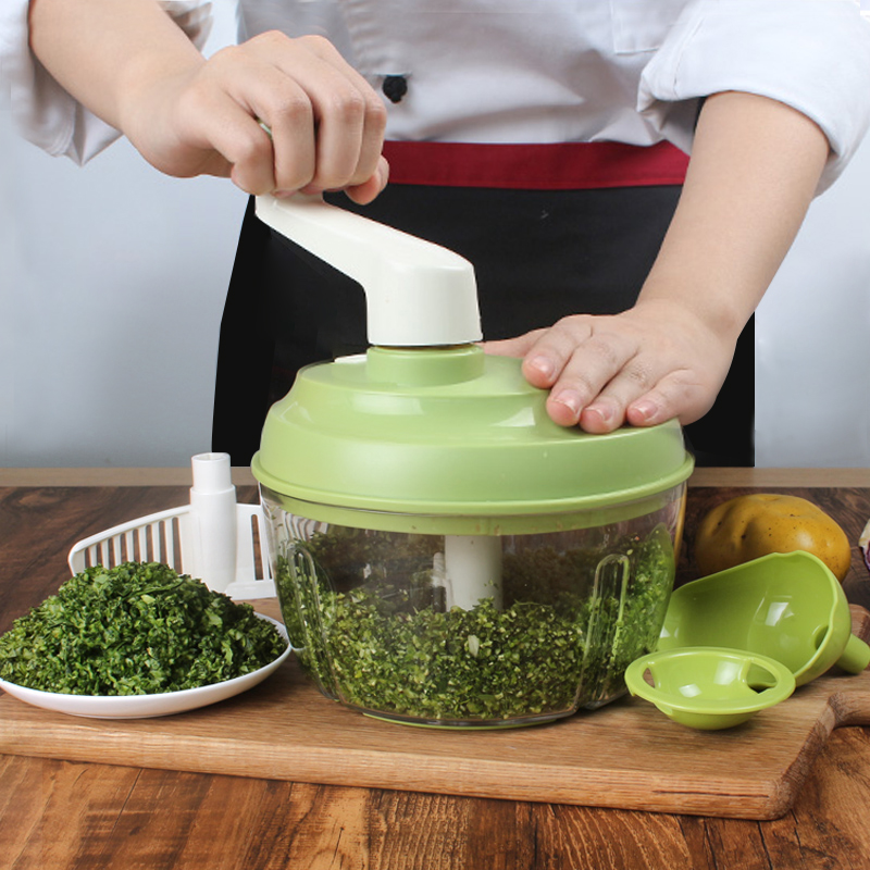 Onion Chopper Garlic Grinder Egg Blender with 420 Stainless Steel Blades Nuts Crusher Meat Mincer Chopper