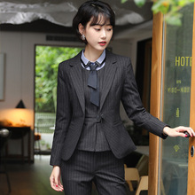 Professional wear womens suit fashion temperament striped trousers skirt self-cultivation office interview set