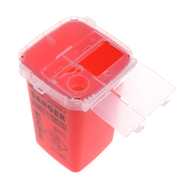 Image 3 - 1pc 1L Tattoo Medical Red Plastic Sharps Containers for Tattoo Artists Newest Tattoo Sharps Container Needle Disposal Tools-in Tattoo accesories from Beauty & Health