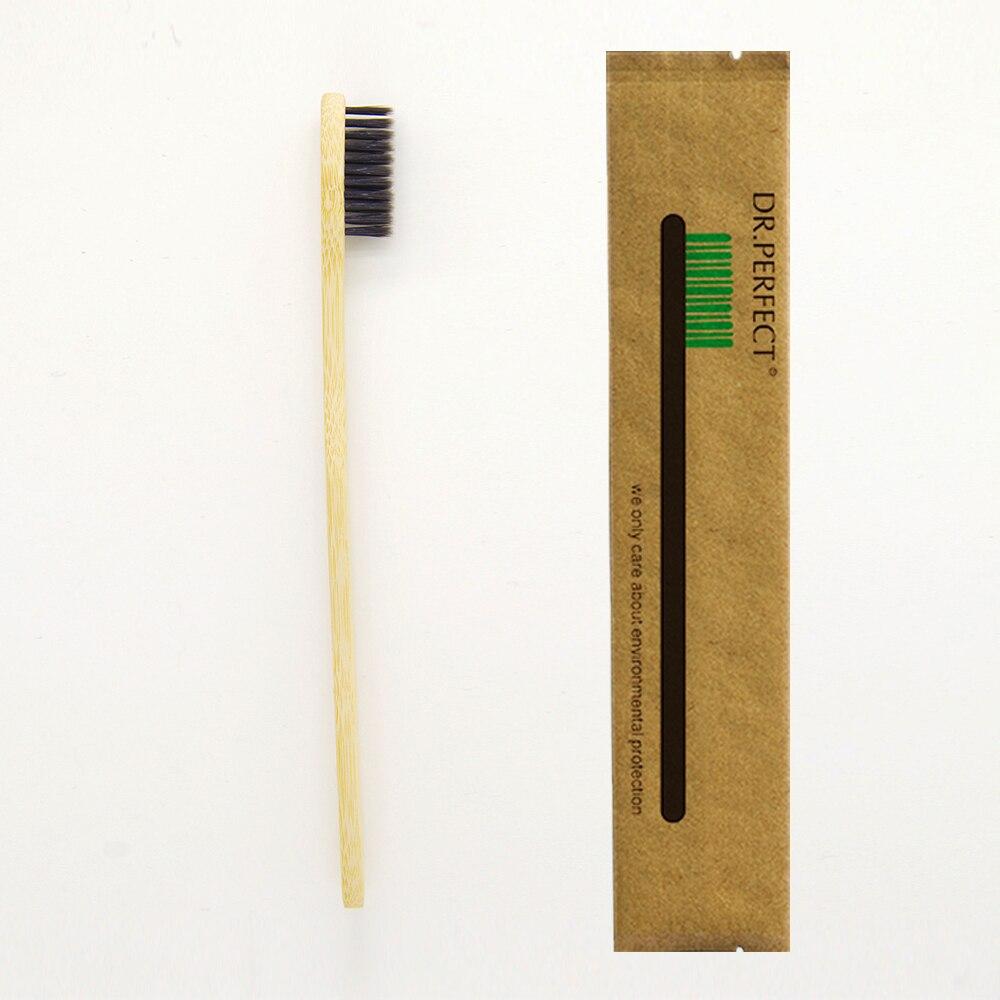1 Piece Black 100 Bamboo Toothbrush Wood toothbrush font b Novelty b font Bamboo soft bristle