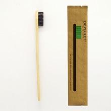 1 Piece Black 100% Bamboo Toothbrush Wood toothbrush Novelty Bamboo soft-bristle Capitellum Bamboo Fibre Wooden Handle