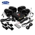 Aileap 1000W Amplificatore Bluetooth del Motociclo Stereo 4 Altoparlanti MP3 Audio Radio FM Sistema per HARLEY/SUZUKI/HONDA /ATV/UTV/(Nero)
