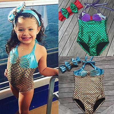 2a17f7f6ee Detail Feedback Questions about 2017 0 8Y Shiny Cute Toddler Baby Kids  Girls Mermaid Shell Bikini Swimsuit Swimwear Bathing Suit on Aliexpress.com