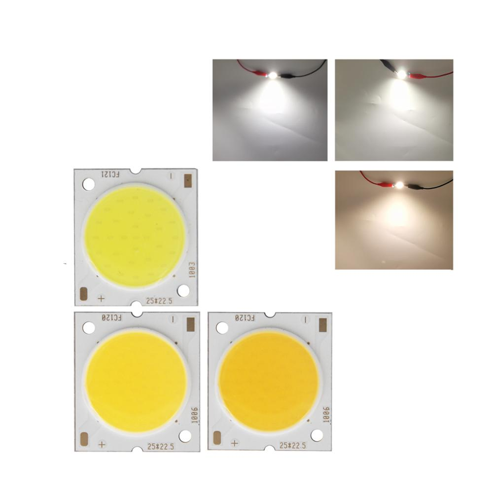 Купить с кэшбэком manufacturer 25x22.5mm Square Aluminum Board LED COB Strip High lumen chip Light Source Module 10W 15W 20W 30W COB for bulb lamp
