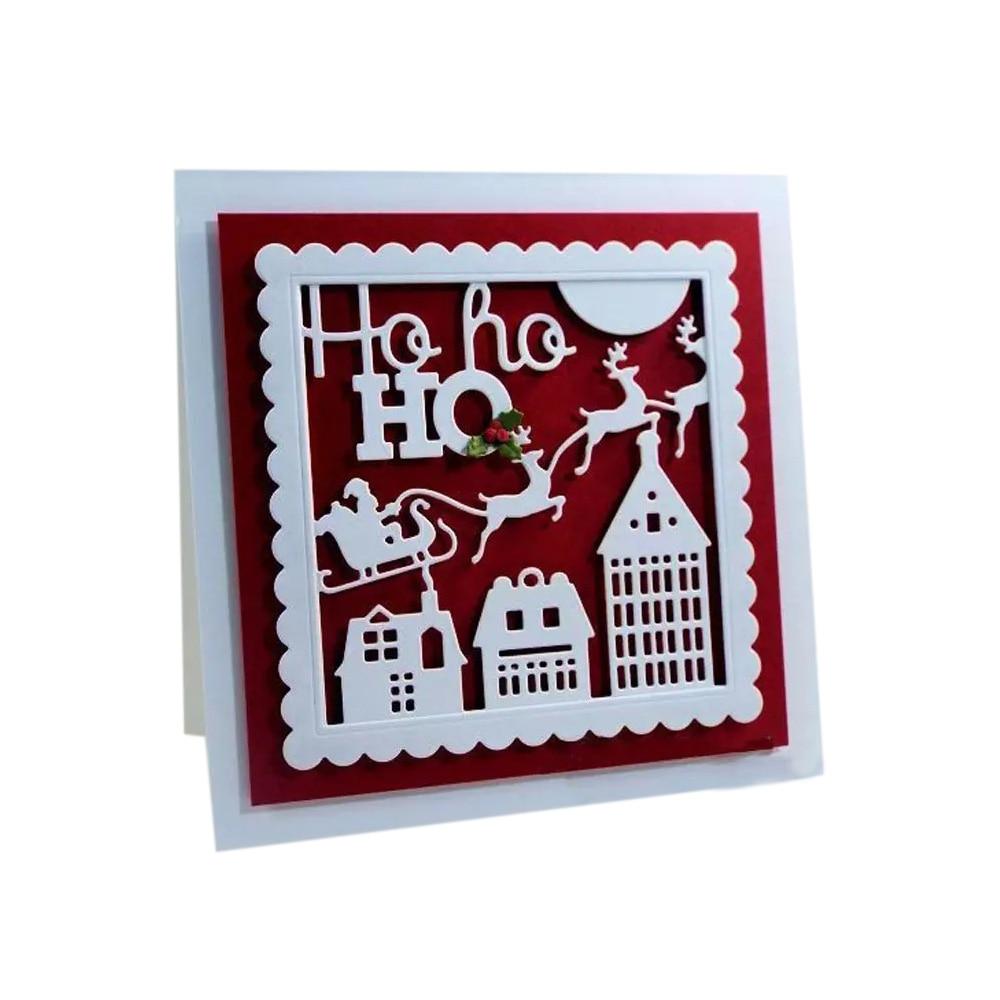 Ho Ho Ho Merry Christmas.Us 2 32 10 Off Ho Ho Ho Merry Christmas Santa Metal Cutting Dies For Diy Scrapbook Photo Album Paper Card Decorative Craft Embossing Dies In Cutting