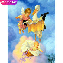 MomoArt Diamond Painting Angle Embroidery Full Square Rhinestone Mosaic Cartoon Home Decoration
