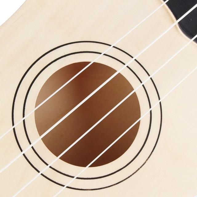 Ukulele Combo 21 Ukulele Black Soprano 4 Strings Uke Hawaii Bass Stringed Musical Instrument Set Kits+Tuner+String+Strap+Bag 3