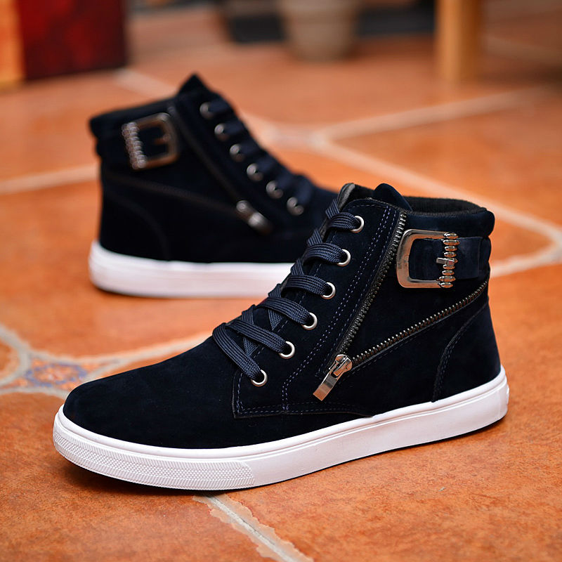 15e7d443c940 Hot 2019 Spring Autumn Korean Men s High-Top Shoes Students Zip Letters  Casual Canvas Shoes Mens Wild Fashion Trendy Ankle BootsUSD 21.99-24.99 pair
