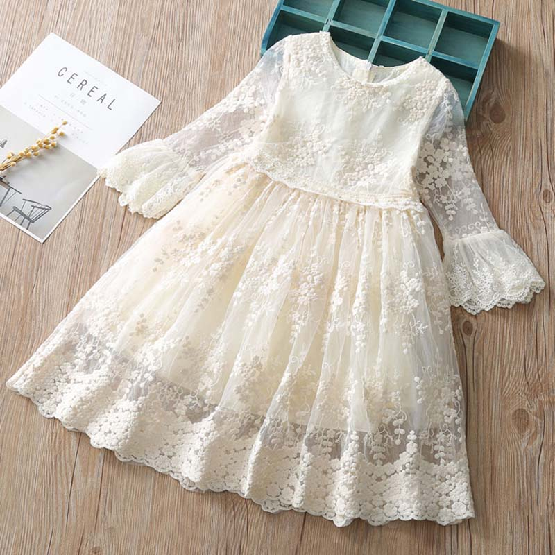 Royal style princess girls dress flare lace sleeve kids dresses for girls party wedding costumes children outfitsRoyal style princess girls dress flare lace sleeve kids dresses for girls party wedding costumes children outfits
