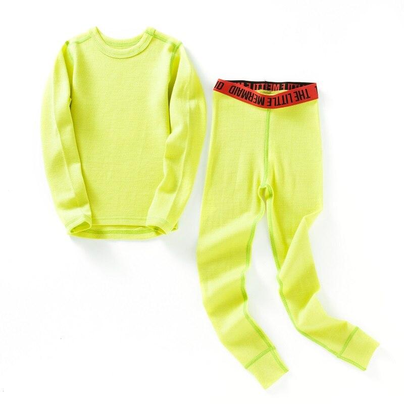 c9df714a ... Children long johns boys girls. 100% Merino wool kids thermal thicker  underwear set boys girls From 1.5 to 14 years