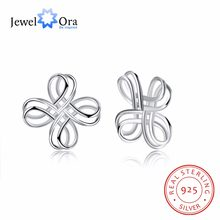 925 Silver Stud Earrings For Women Flower Shape Earrings 2018 New Arrival Trendy Jewelry Vintage Gift For Mom(Jewelora EA103001)(China)