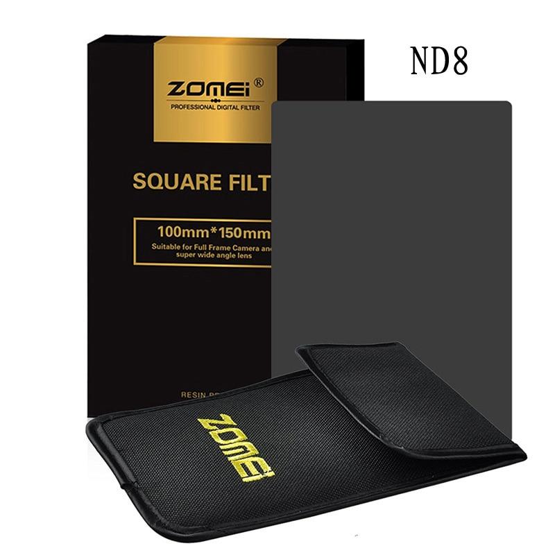 Zomei Gradual Grey Graduated Neutral Density ND8 Square Z-PRO Series Filter for Cokin Z Zomei Hitech 4X6