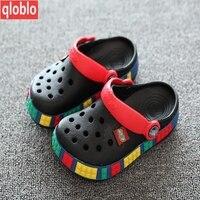 Cartoon Fashion Color Clog Clogs EVA Materials Kids Children Slippers Baby Clog Garden Shoe Boys Girls