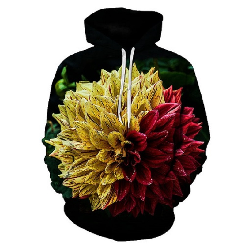 2018 Neue Design Blumen Hoodies Männer/frauen 3d Sweatshirts Digital Print Rosa Rosen Blumen Mit Kapuze Hoodies Marke Hoody Tops