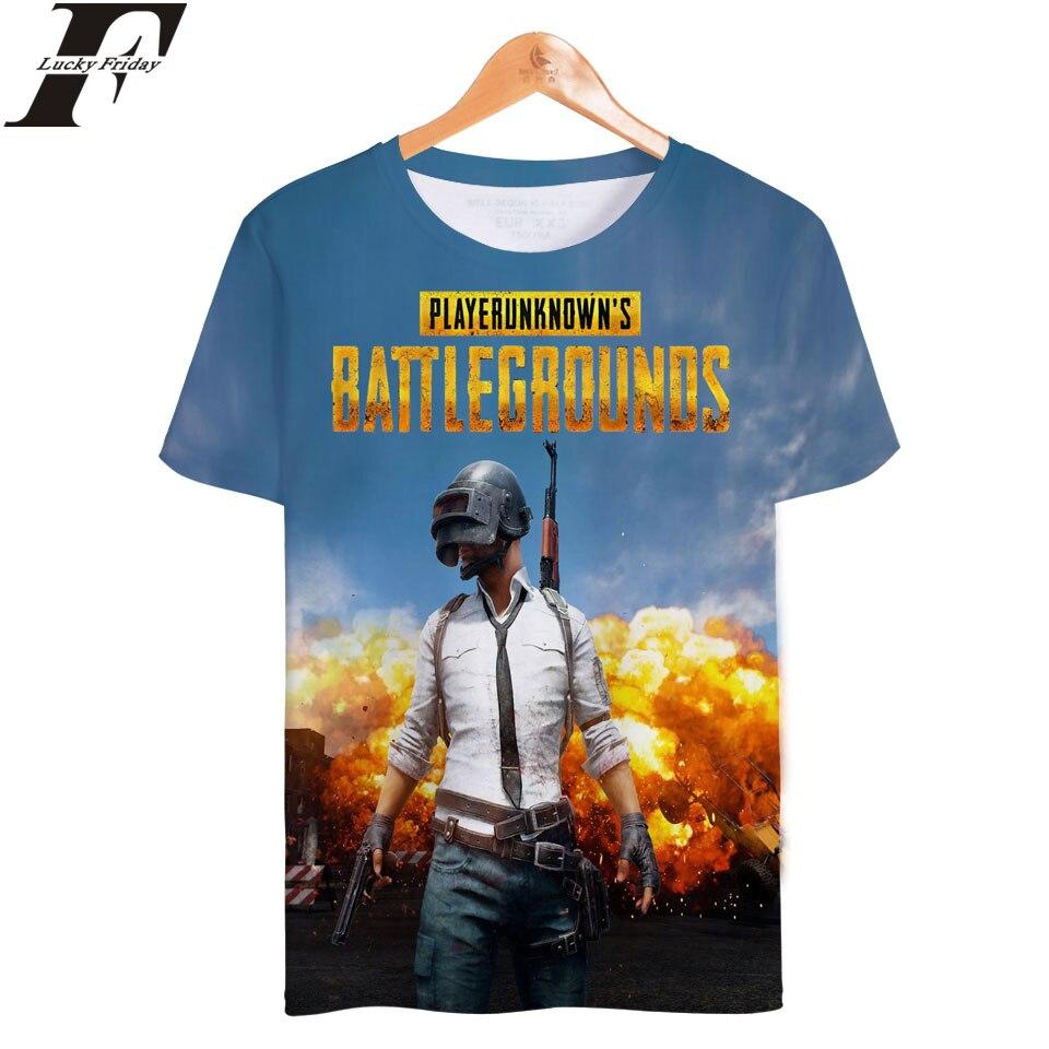 LUCKYFRIDAYF PUBG 3D Short Sleeve T-Shirt Fashion Style T-shirt 2018 Hot Online Game Short Sleeve Man/Women Clothes Plus Size