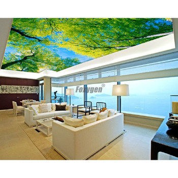 Digital Printed and UV printing  false ceiling Blue sky pop ceiling design image