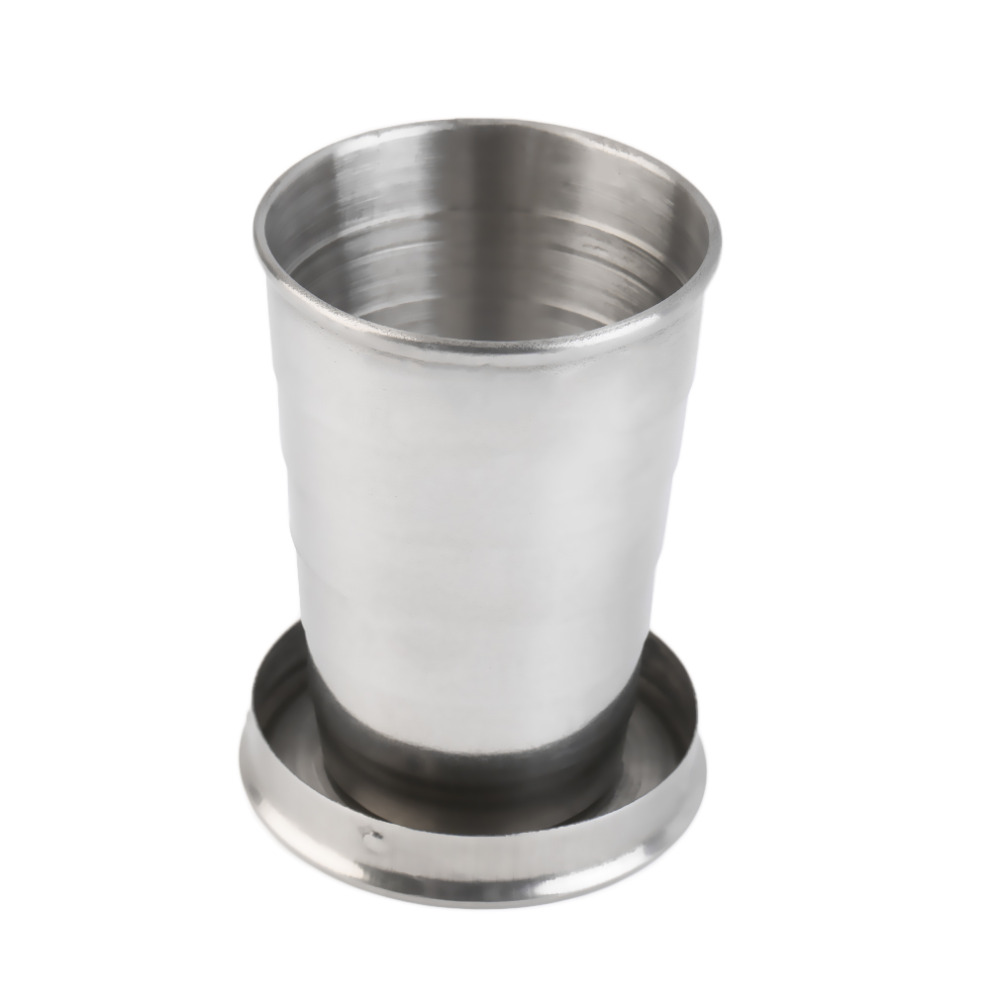 60ML <font><b>Stainless</b></font> <font><b>Steel</b></font> Portable Outdoor Travel Camping Folding Collapsible <font><b>Cup</b></font> free shipping