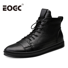 Natural Wool Men Winter Boots Fashion waterproof men boots Autumn ankle comfortable Retro leather snow size 38-48